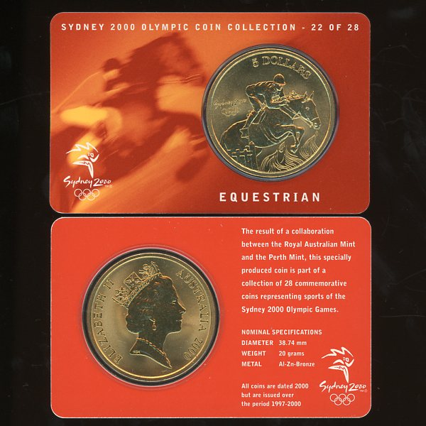 Thumbnail for 2000 Sydney Olympics Equestrian $5 Coin Uncirculated
