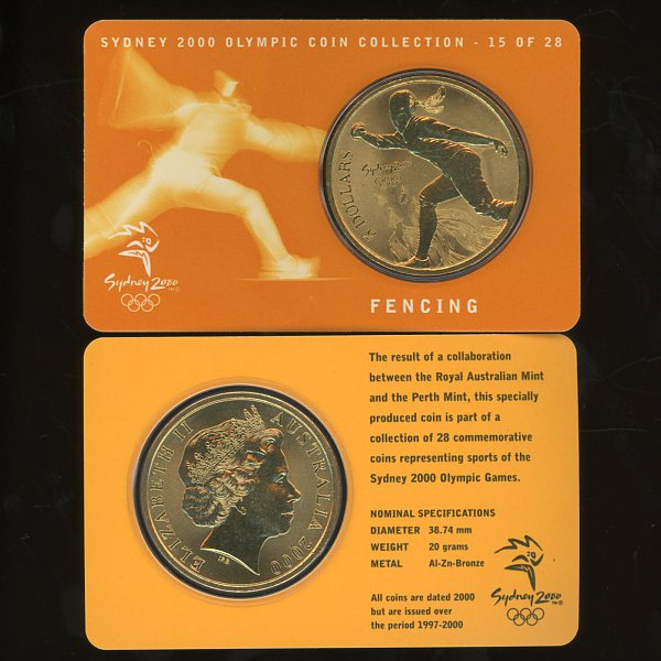 Thumbnail for 2000 Sydney Olympics Fencing $5 Coin Uncirculated