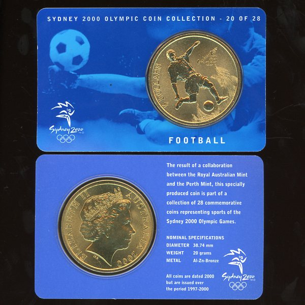 Thumbnail for 2000 Sydney Olympics Football $5 Coin Uncirculated