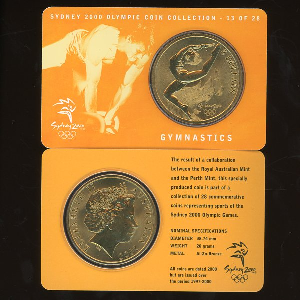 Thumbnail for 2000 Sydney Olympics Gymnastics $5 Coin Uncirculated
