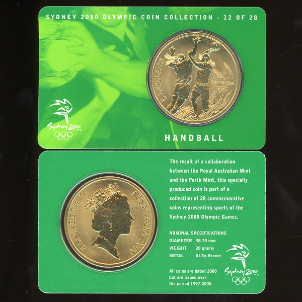 Thumbnail for 2000 Sydney Olympics Handball $5 Coin Uncirculated