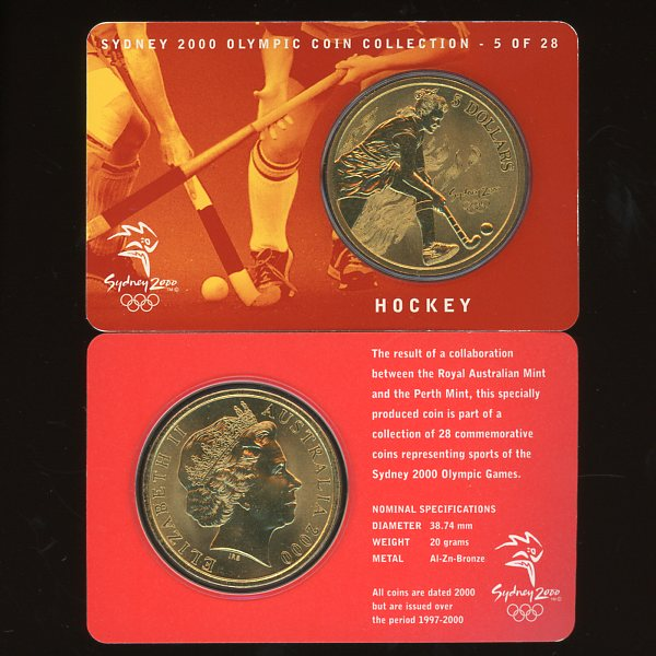 Thumbnail for 2000 Sydney Olympics Hockey $5 Coin Uncirculated