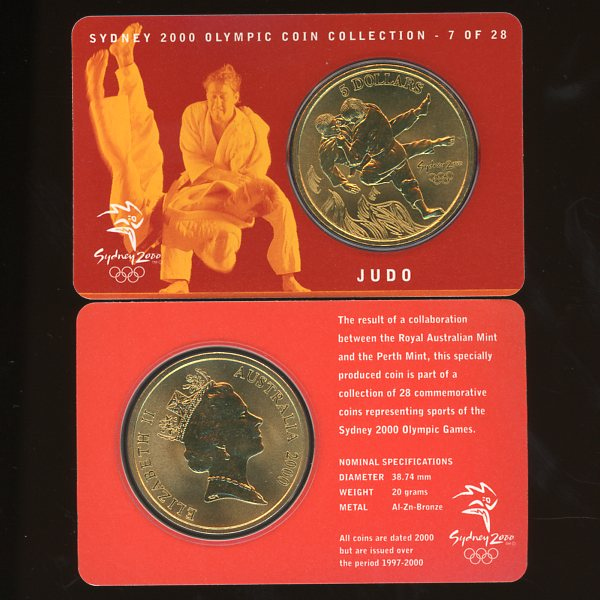 Thumbnail for 2000 Sydney Olympics Judo $5 Coin Uncirculated