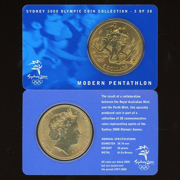 Thumbnail for 2000 Sydney Olympics Modern Pentathalon $5 Coin UNC