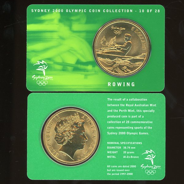 Thumbnail for 2000 Sydney Olympics Rowing $5 Coin Uncirculated