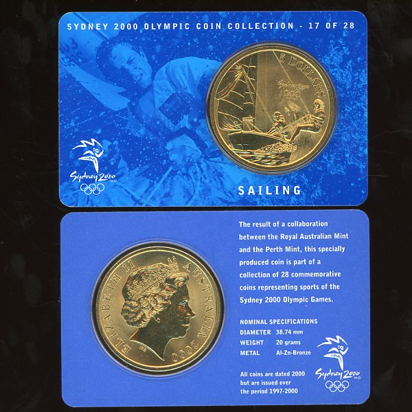 Thumbnail for 2000 Sydney Olympics Sailing $5 Coin Uncirculated