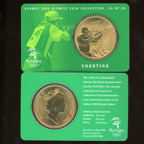 Thumbnail for 2000 Sydney Olympics Shooting $5 Coin Uncirculated