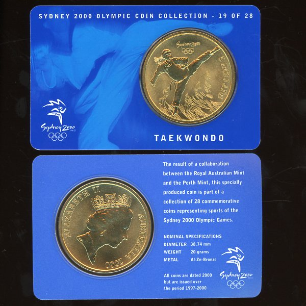 Thumbnail for 2000 Sydney Olympics Taekwondo $5 Coin Uncirculated