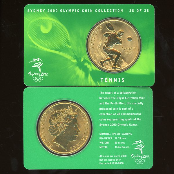 Thumbnail for 2000 Sydney Olympics Tennis $5 Coin Uncirculated
