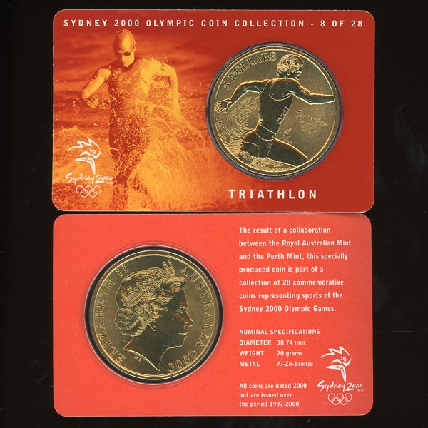 Thumbnail for 2000 Sydney Olympics Triathlon $5 Coin UNC