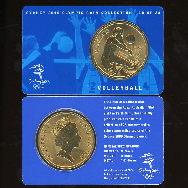 Thumbnail for 2000 Sydney Olympics Volleyball $5 Coin Uncirculated