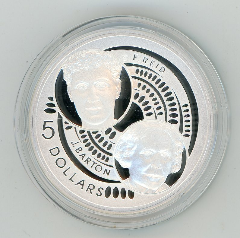 Thumbnail for 2001 $5 Silver Proof From Masterpieces In Silver Set - Barton & Reid