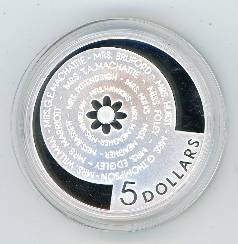 Thumbnail for 2001 $5 Silver Proof From Masterpieces In Silver Set - Bathurst Ladies Organising Committee