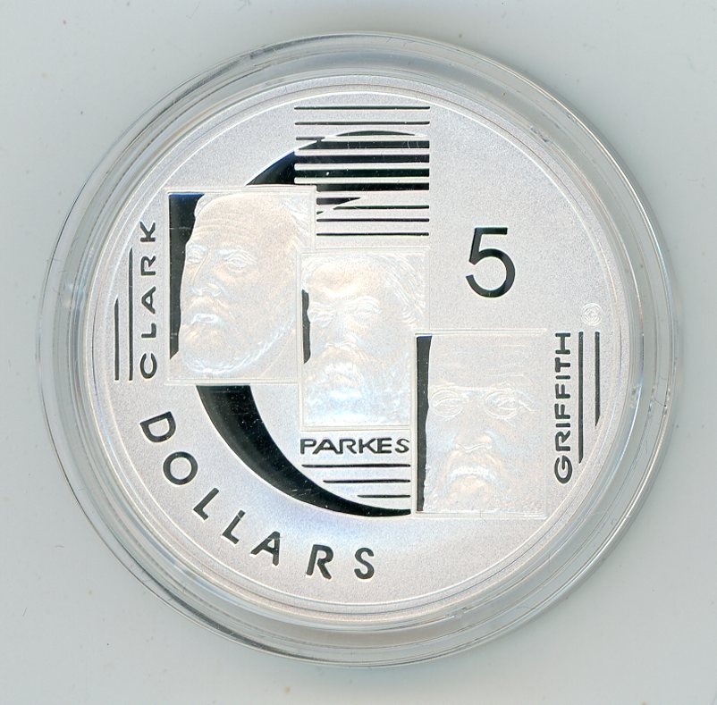 Thumbnail for 2001 $5 Silver Proof From Masterpieces In Silver Set - Clark Parkes & Griffith