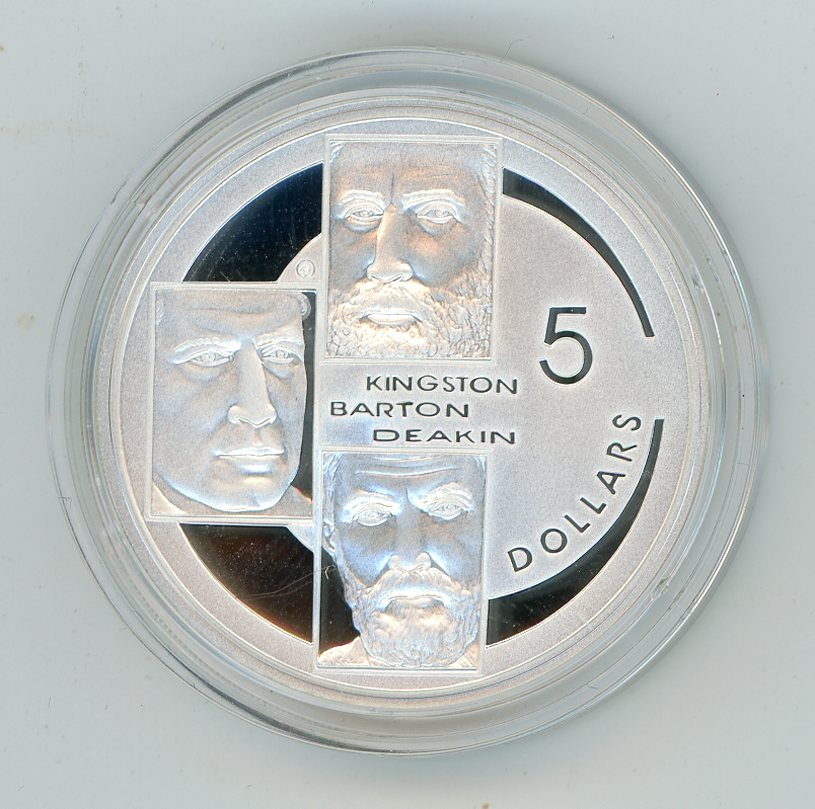 Thumbnail for 2001 $5 Silver Proof From Masterpieces In Silver Set - Kingston Barton & Deakin