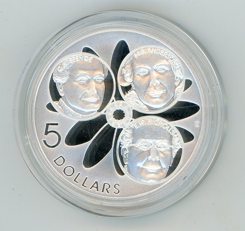 Thumbnail for 2001 $5 Silver Proof From Masterpices In Silver Set - Spence Anderson & Nichollas