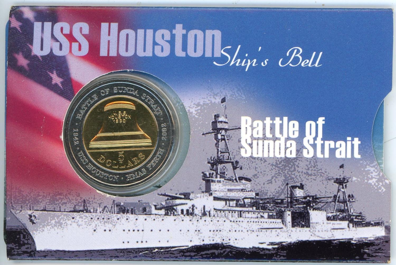 Thumbnail for 2002 Battle Sunda Strait Bi-Metal UNC - USS Houston