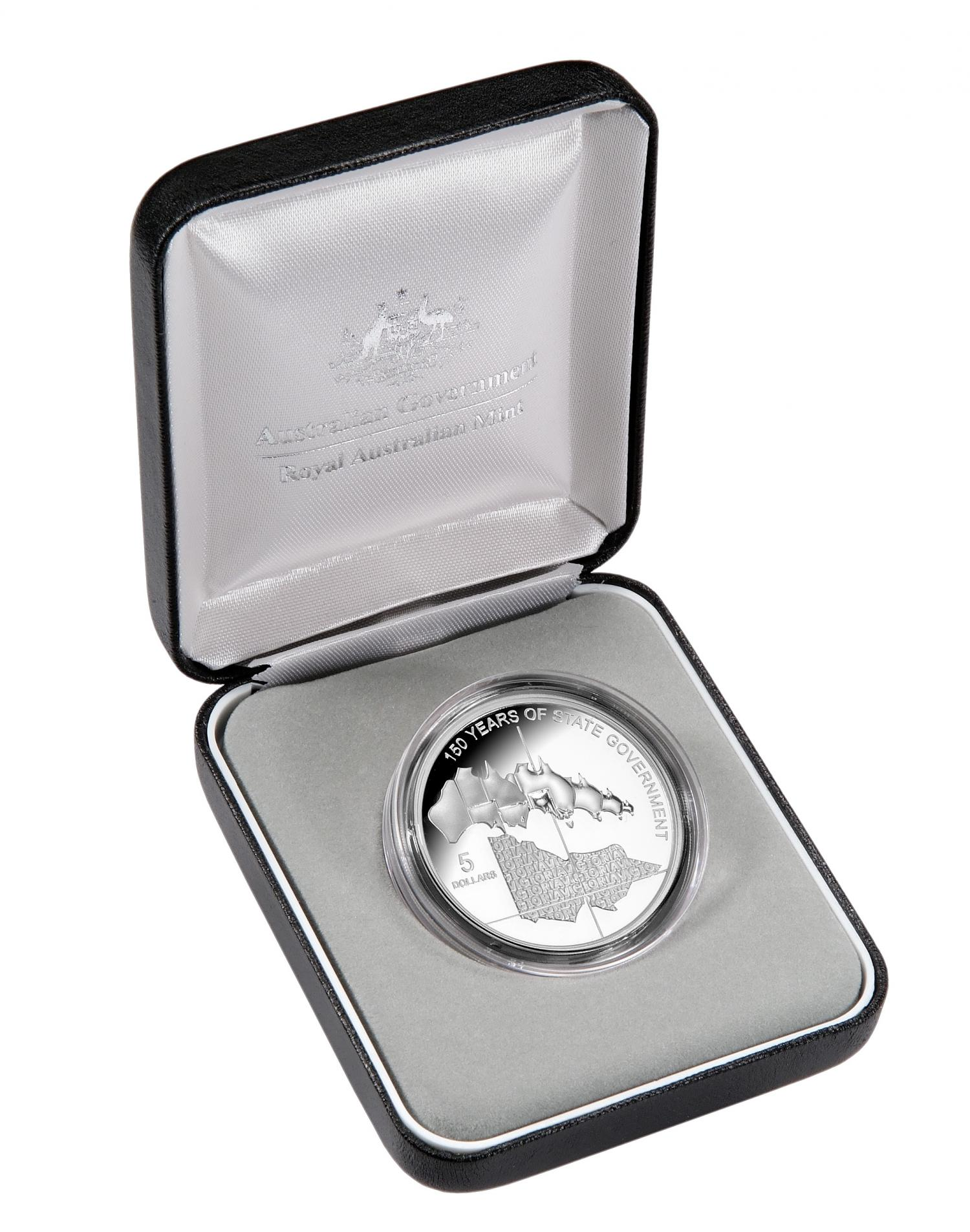 Thumbnail for 2006 $5.00 Silver Proof Victoria 150 Years of State Government