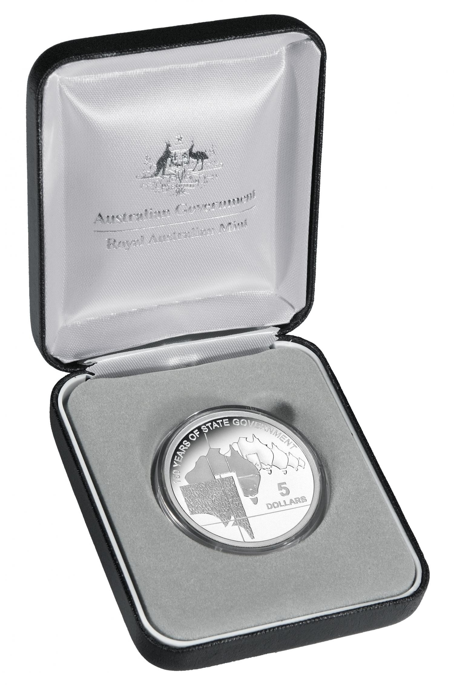 Thumbnail for 2007 $5.00 Silver Proof South Australia 150 Years of State Government