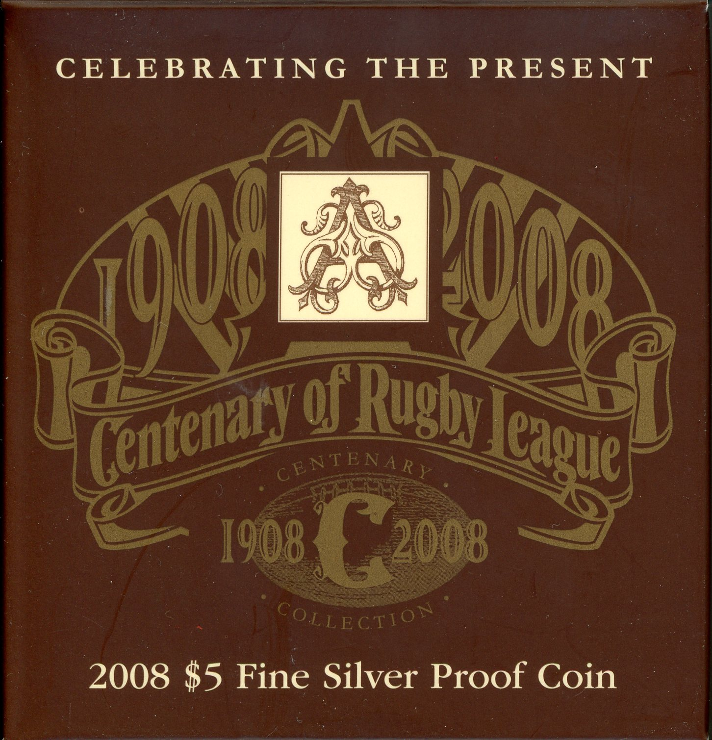 Thumbnail for 2008 Centenary of Rugby League $5 Proof