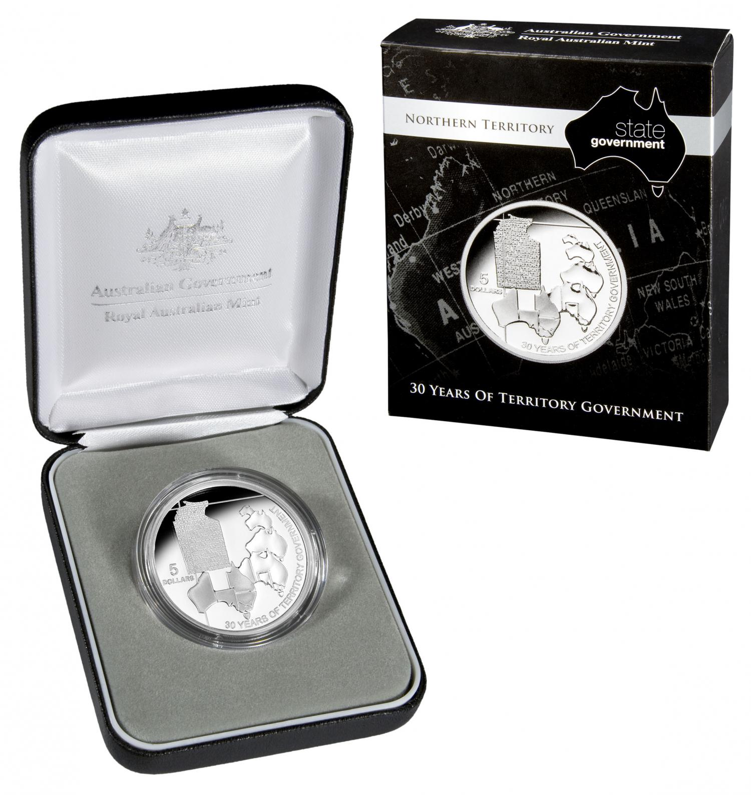 Thumbnail for 2008 $5.00 Silver Proof Northern Territory 30 Years of Territory Government