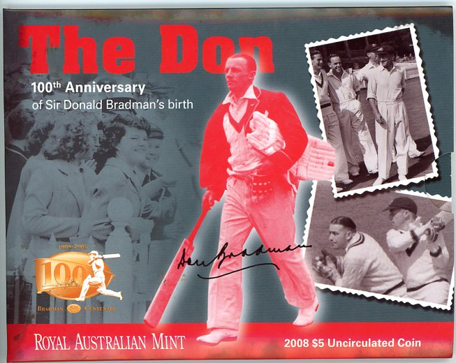 Thumbnail for 2008 Sir Donald Bradman Uncirculated