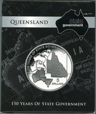 Thumbnail for 2009 State Government Series $5 Silver Proof - Queensland