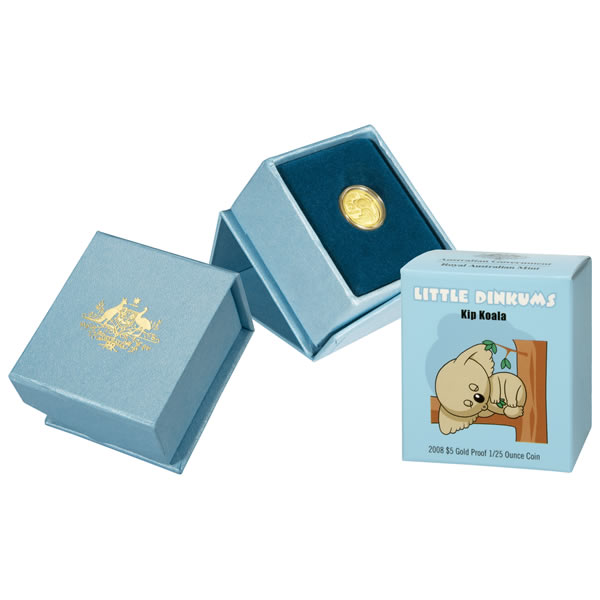 Thumbnail for 2008 Little Dinkums - Kip Koala $5 Gold Proof