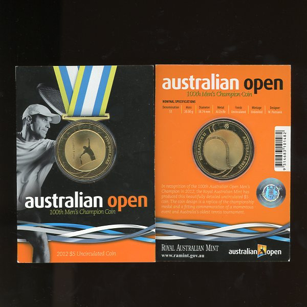 Thumbnail for 2012 Mens Australian Open - Uncirculated