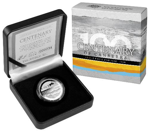 Thumbnail for 2013 Centenary of Canberra $5.00 Silver Proof Coin