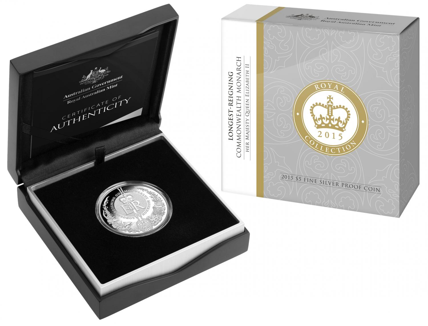 Thumbnail for 2015 Australian Longest Reigning Monarch $5.00 Silver Proof Coin