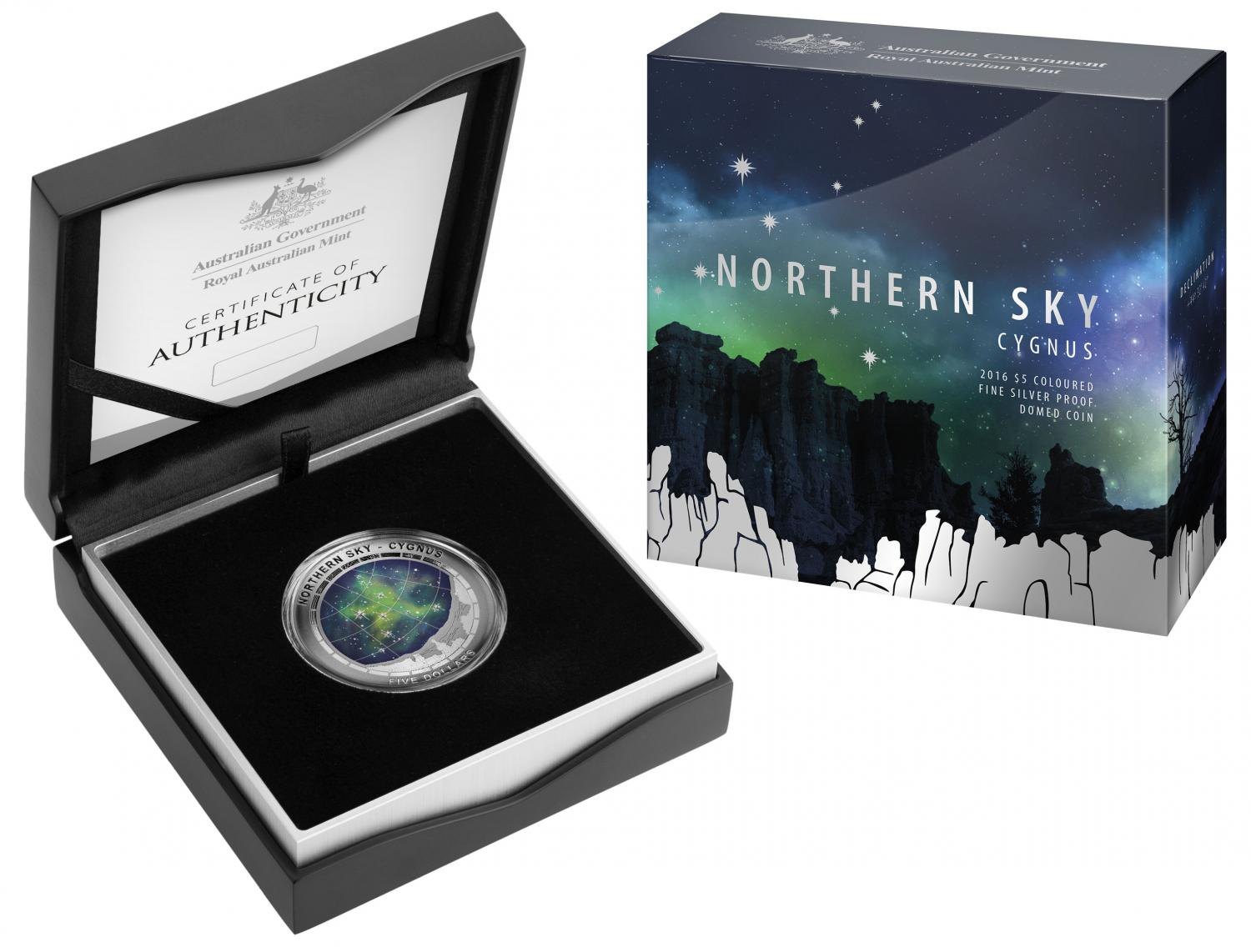 Thumbnail for 2016 Northern Sky Cygnus Silver Proof Domed Coin
