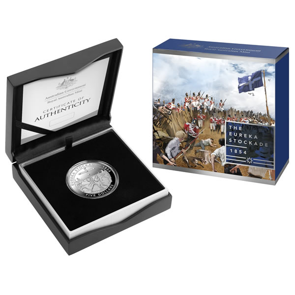 Thumbnail for 2019 Mutiny and The Rebellion $5  Silver Proof - Eureka Stockade of 1854