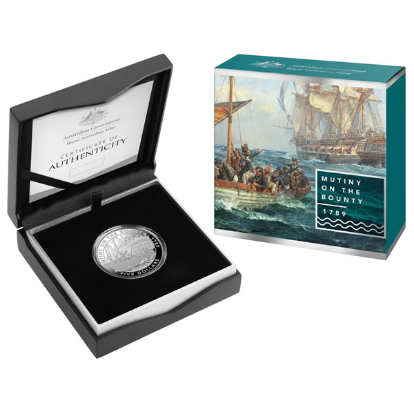 Thumbnail for 2019 Mutiny and Rebellion Series $5 Silver Proof - The Bounty