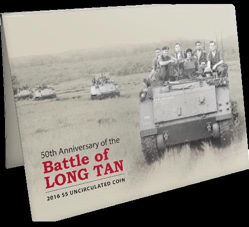 Thumbnail for 2016 50th Anniversary of the Battle of Long Tan $.00 Uncirculated Coin