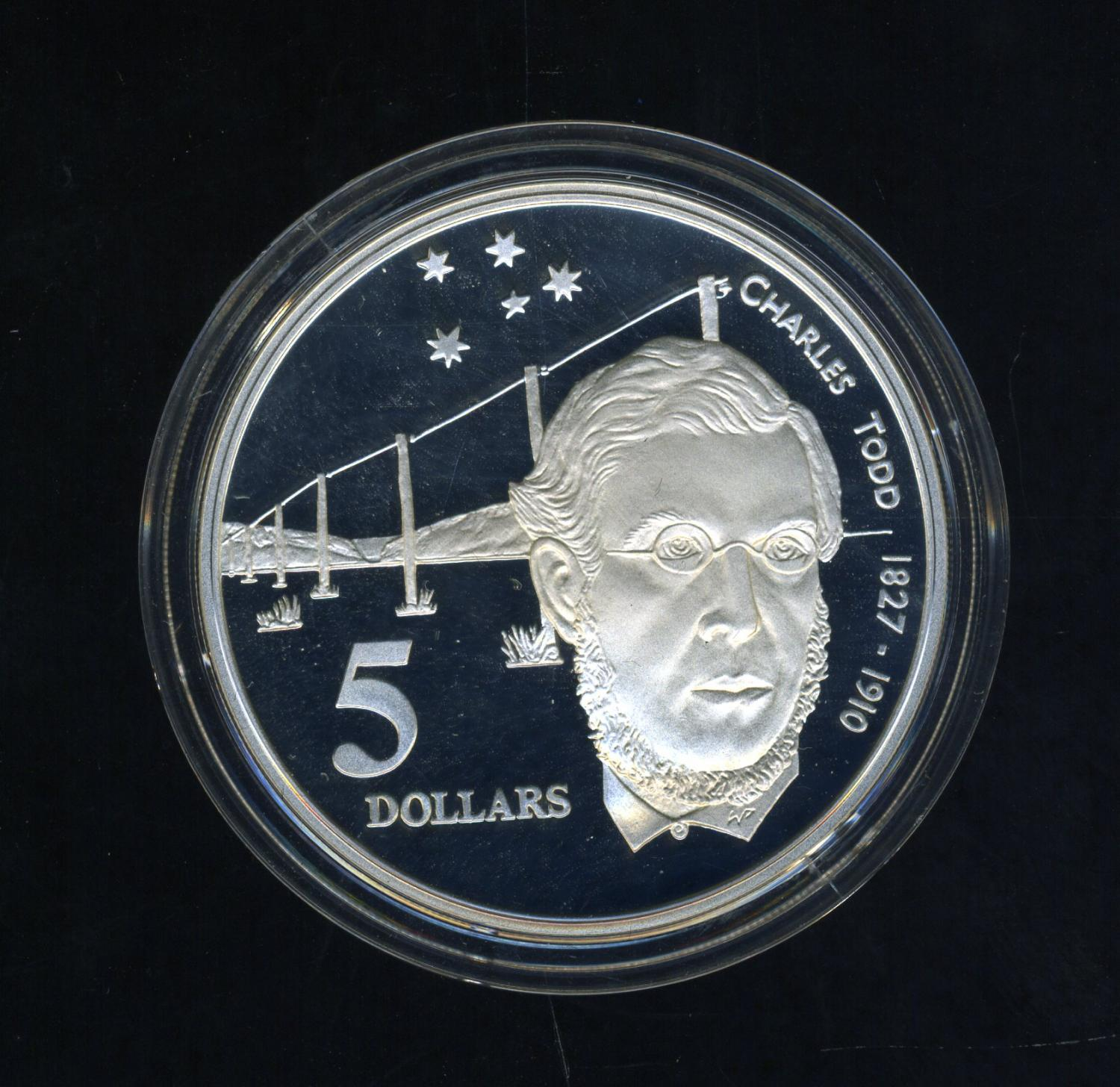 Thumbnail for 1995 $5.00 Silver Proof Coin in Capsule from Masterpieces in Silver Set - Charles Todd
