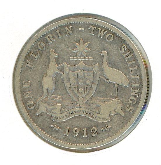 Thumbnail for 1912 Australian Florin (B) VG