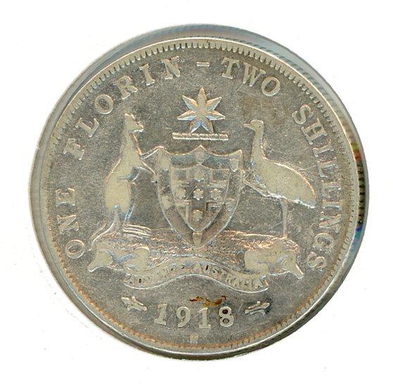 Thumbnail for 1918 Australian Florin aF