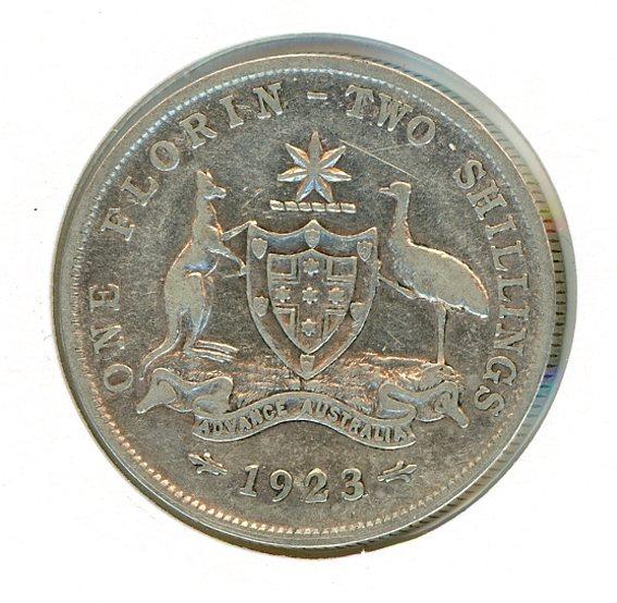 Thumbnail for 1923 Australian Florin (B) VG