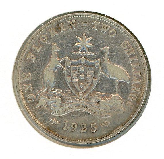 Thumbnail for 1925 Australian Florin FINE