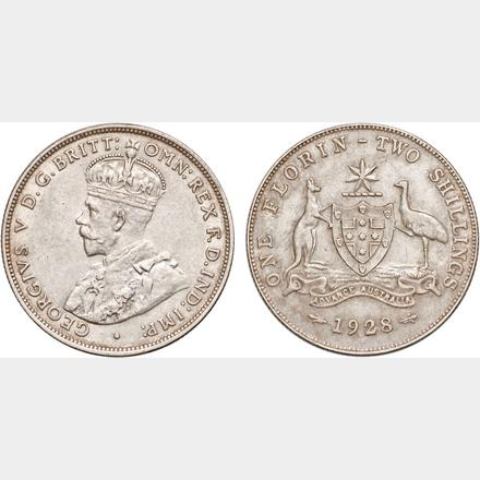 Thumbnail for 1928 George V Florin aEF