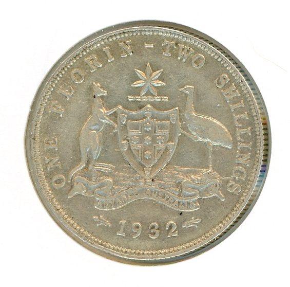 Thumbnail for 1932 Australian Florin VF