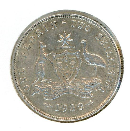 Thumbnail for 1932 Australian Florin gVF