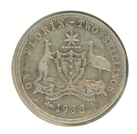 Thumbnail for 1933 Australian Florin (B) FINE