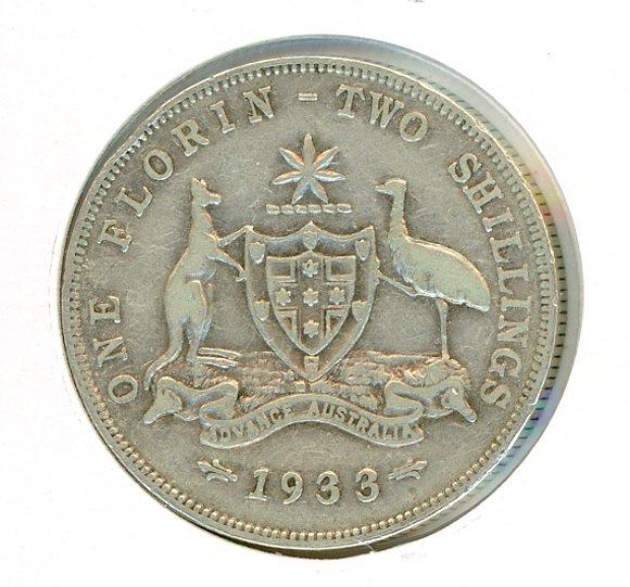 Thumbnail for 1933 Australian Florin (C) FINE