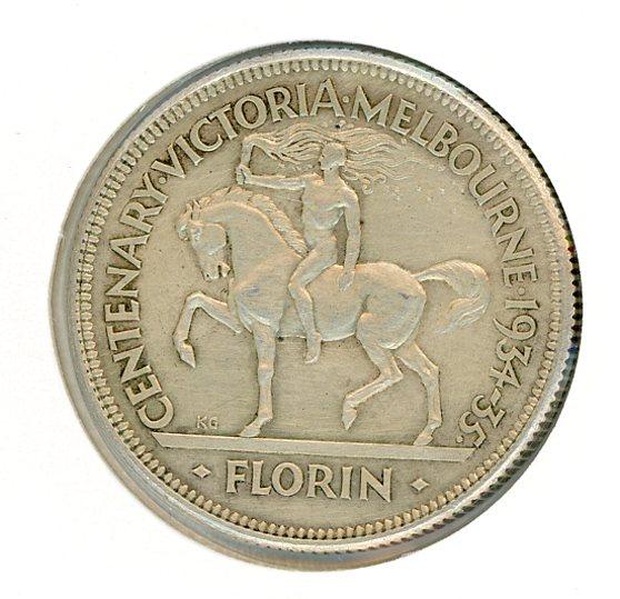 Thumbnail for 1934-35 Australian Florin (G) gEF