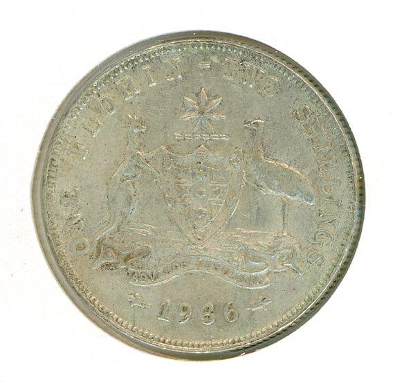 Thumbnail for 1936 Australian Florin VF