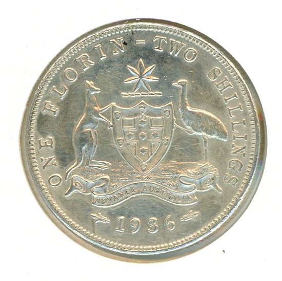 Thumbnail for 1936 George V Florin aUNC
