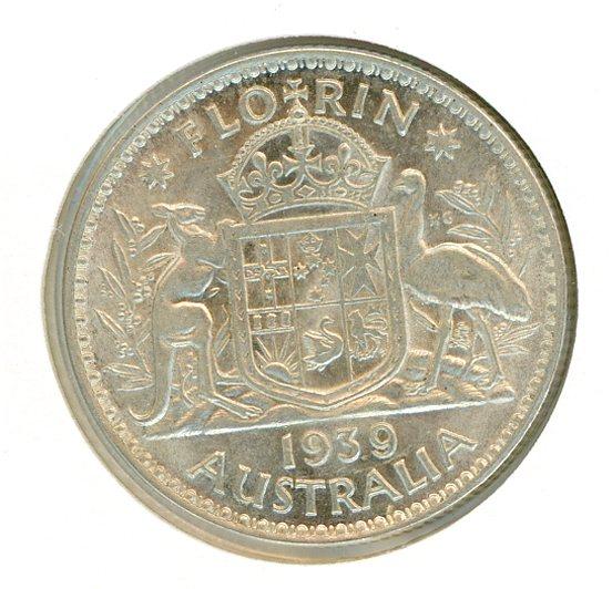 Thumbnail for 1939 Australian Florin EF