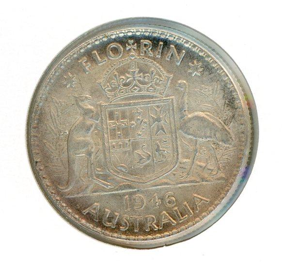 Thumbnail for 1946 Australian Florin (B) EF